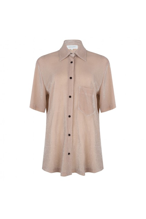 Jacky Luxury blouse in nude - Lurex