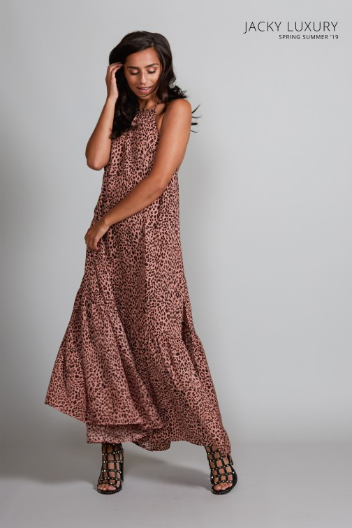 Jacky Luxury maxidress in pink leopard