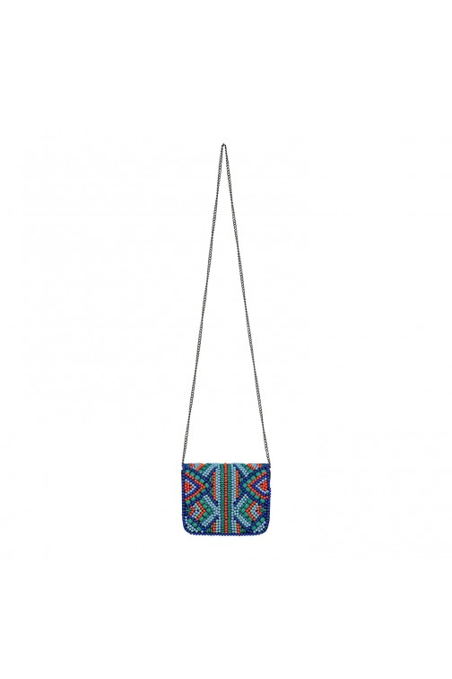 Labee Kathy bag met kralen in blue