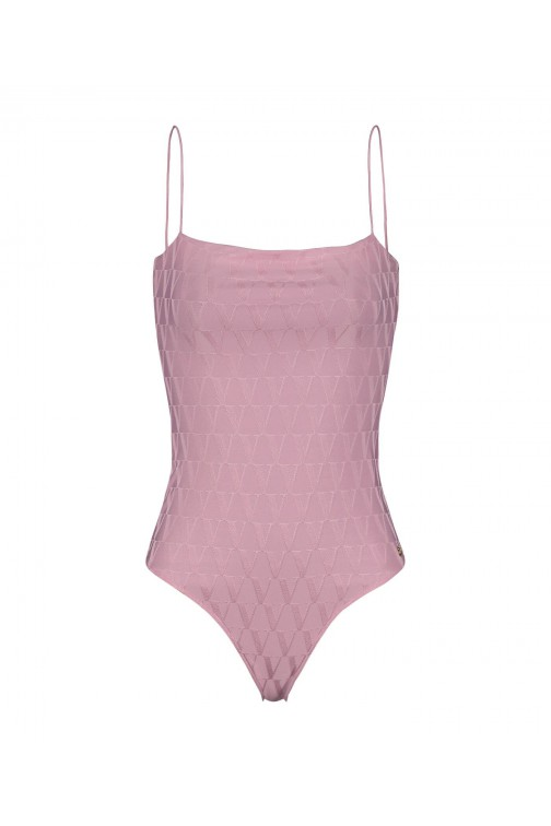 Josh V Taniya body in pink - V logo