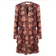Jacky Luxury snakeprint dress met ruche