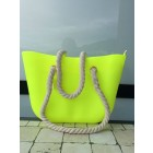 Beach bag in neon yellow