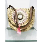 Wicker bag with shells