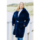 Guess W94L72WAPL0 fur coat in navy