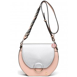 TRC crossbody tas colorblock - zilver