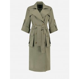 Nikkie Lizzie trenchcoat in soft olive
