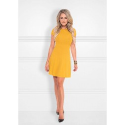 Nikkie Jessie dress in geweven patroon - warm glow