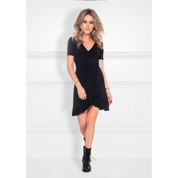 Nikkie Jori ruffle dress in zwart