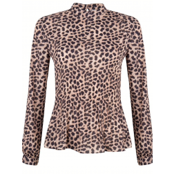 Jacky Luxury plooi top in leopard