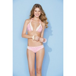 Bikini van Maaji in wit met roze: Sugar clouds.