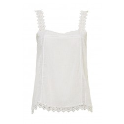 By Danie crochet top in off-white