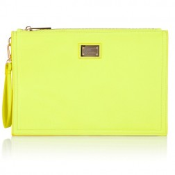 Josh V Caressa clutch in lime