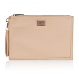 Josh V Caressa clutch in nude