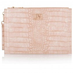 Josh V Caressa clutch in pale blush