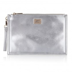 Josh V Caressa clutch in Silver