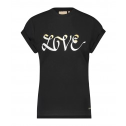 Josh V Dora t-shirt LOVE in zwart