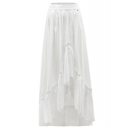 It's Given Ruth maxi skirt met ruche in wit