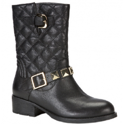Glamorous boots: black quilted