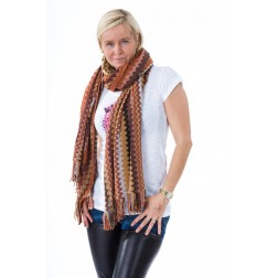 B-loved Missoniprint sjaal in brown.