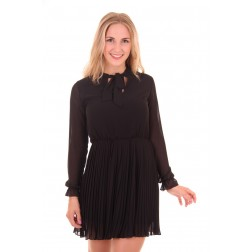 Fracomina dress in zwart met pussybow