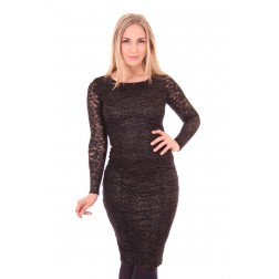 Its Given Heather dress in black lace