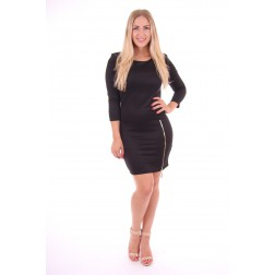 Jacky Luxury zipper dress in zwart