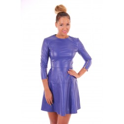 Josh V Carola dress in blauw leer
