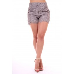 Kocca kanten short in grey. BOZAL