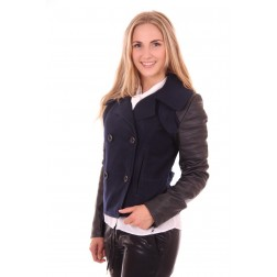 Jacky Luxury winterjacket met leer