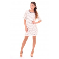 Suncoo Cyprus shift dress in white