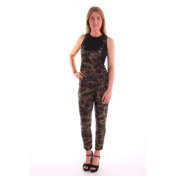 Overal in dark army print