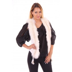 Glamorouos Tracy gilet in wit leer