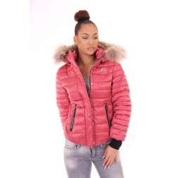 Nickelson Zuma winterjas in pink-coral