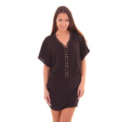 By Danie dress studs in black