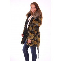 Liu Jo fur parka in camo