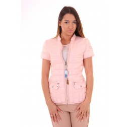 Nickelson Spice dons jacket in powder blush