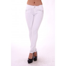 Liu Jo ideal jeans in wit met strass