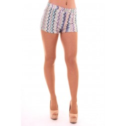 Jacky Luxury Missoniprint short in turquoise