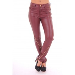 Tailor and Elbaz zipper pants in bordeaux