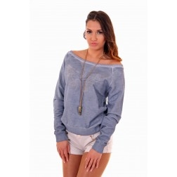 By Danie sweater Wings in muisgrijs
