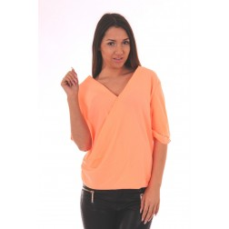 Jacky Luxury overslag blouse in peach