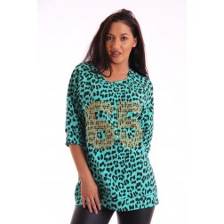Relish sweaterdress in animal print; GRAPES