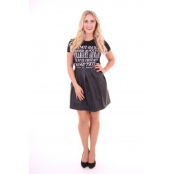 Jacky Luxury shirtje, smile in zwart
