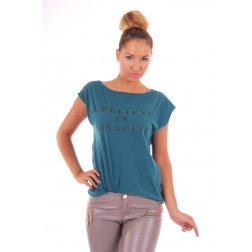 Josh V Hillie shirt in teal - kobalt