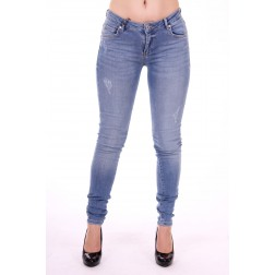 Supertrash Paradise jeans sateen in mid blue