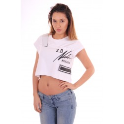 Nickelson Crop top in wit