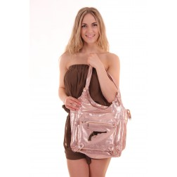 Josh V tas in rosé goud, The Top bag uit de sahara collectie