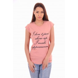 Josh V t-shirt Katie in peach