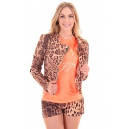 Josh V jacket, Jill in leopard, Sahara collection