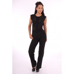 Supertrash Waris jumpsuit in zwart